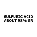 Sulfuric Acid About 98 Percent Gr