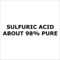 Sulfuric Acid About 98 Percent Pure
