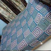 Hand Made Multicolour Crochet Bedsheets