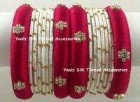 Decorative Handmade Silk Thread Bangles