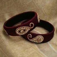 Ladies Handmade Silk Thread Bangles