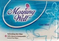 Morning Well Cool Mint Scented Wet Wipes