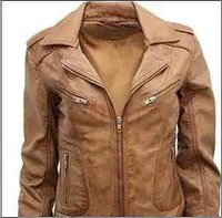 Plain Pattern Pure Leather Jacket