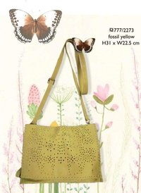 Leather Ladies Bag (Fossil Yellow)