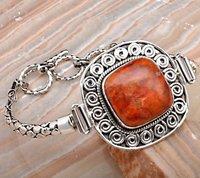 Semi Precious Stone Studded Silver Bracelets