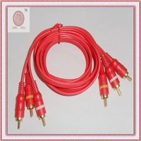 Pure Red Gold-plated AV Cables