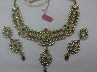 Colored Stone Kundan Necklaces