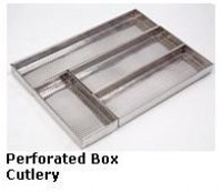 Perforated Box Cutlery Baskets