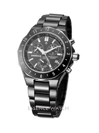 Black Zirconium Ceramic Chronograph Sports Watch