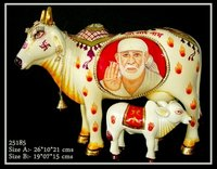 Sai Baba Painting On Cow