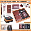 4pcs Gift Set (Pen, Keychain, Dairy And Card Holder) H-903