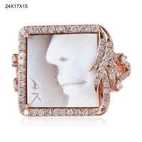 New Design Shell Cameo Diamond Ring