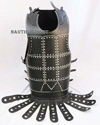 Black Leather Breastplate With Belt