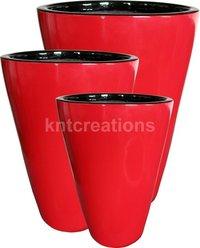 Glossy Plastic Plant Flower Pot