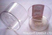 Clear Plastic Tea Light Cups
