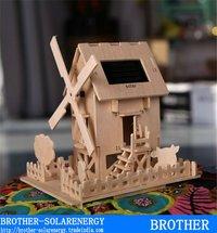 Diy Solar Windmill Wooden House