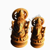 Wooden Hand Carved Ganesha