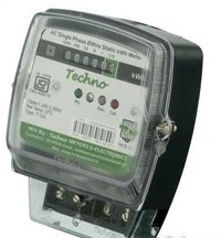 Single Phase Static Energy Meter With Counter Upto 40 Amps