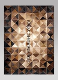 Patchwork Cowhide Leather Rug