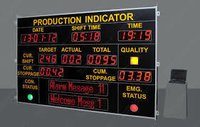 Industrial Led Display Board For Production Signage