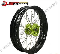 17 Inch Supermoto Custom Spoked Alloy Wheels With Aluminum Billet Hubs