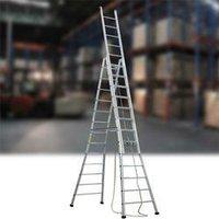 High Grade Aluminium Self Supporting Extension Ladders