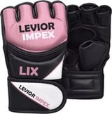 Leather Grappling Gloves Fight Boxing Mma Punch Bag Training