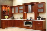 Solid Rubber Wood Kitchen