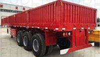 3 Axle 40 Feet Bulk Cargo Wall Panels Semi Flatbed Trailers