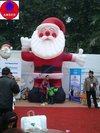 A 16 Ft High Inflatable Santa