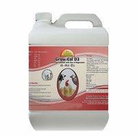 Growel Grow Cal D3 A Powerful Calcium Tonic For Poultry, Goat, Farm Animals (5000 Ml)