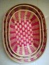 Set Of Three Bamboo Colour Tray