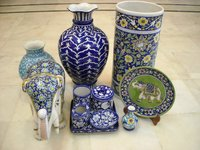Blue Pottery Items