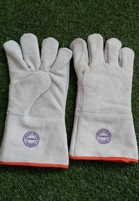 Leather And Spot Welding Hand Gloves