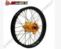 Racing Motorcycle Alloy Spoked Wheels With Aluminum Colored Hubs