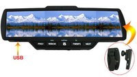 Bluetooth 2.0 Car Rear View Display Mirror With Built-In 2 Speaker + Lcd Screen