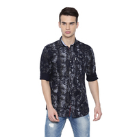 Discharged Printed Casual Shirts