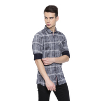 Elite Navy Casual Checked Shirt