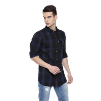 Levi Checked Navy Casual Shirts