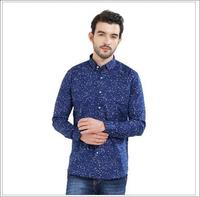 Men Blue Printed Casual Shirt