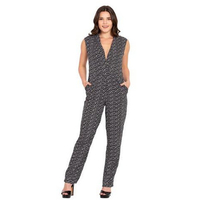 Monochrome Abstract Jumpsuit