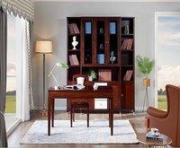 Chinese Wood Bookshelf And Desk