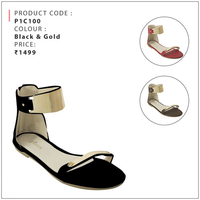 T Strap Flat Sandals