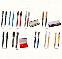 Printed Metal And Wooden Pen