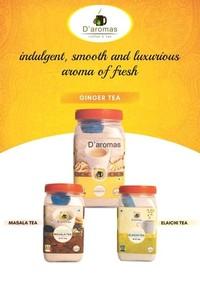 D'aromas Ginger Tea, Masala Tea, Elaichi Tea