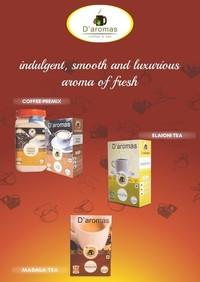 D'aromas Coffee Premix, Elaichi Tea, Masala Tea