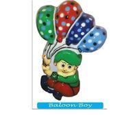 Balloon Boy Fibre Cut Out Dustbin
