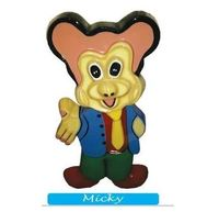 Micky Fibre Cut Out Dustbin