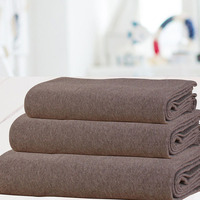 Theo Fitted Sheet 90x195x30 Dune Brown