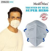 Medi-Max N95 Respirator Face Mask Pro With Head Band Strap l STERILE EO L